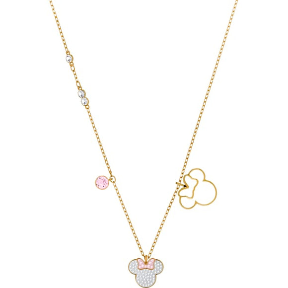 Swarovski Mickey & Minnie Pendant, White, Gold-tone Plated 5515433