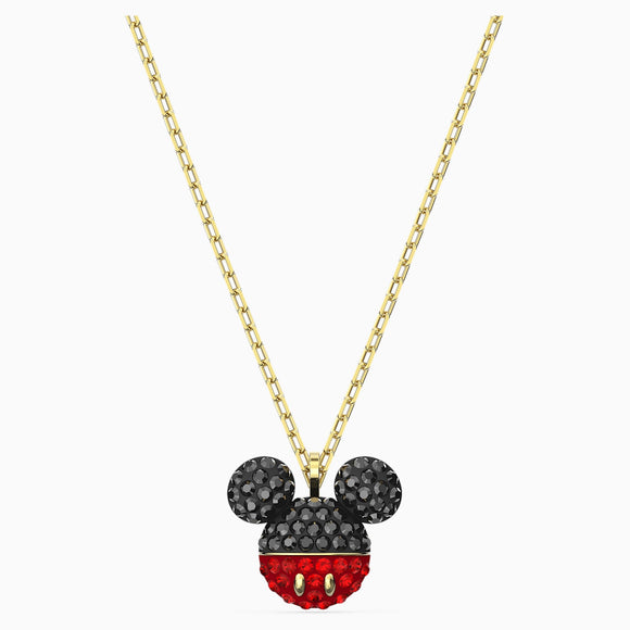 Swarovski Mickey Pendant, Black, Gold-tone Plated 5559176
