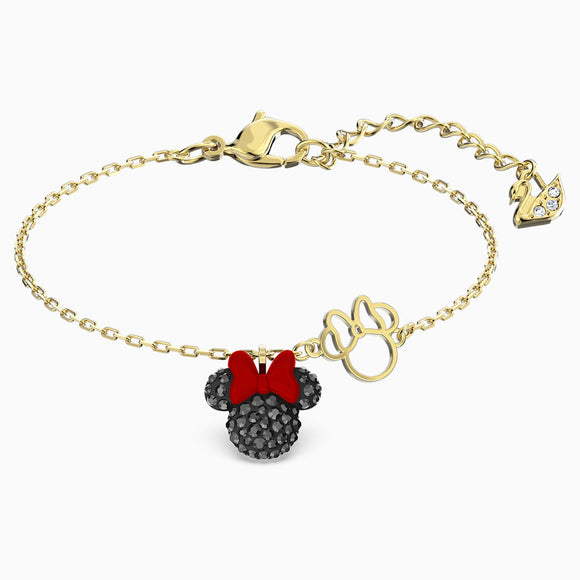 Swarovski Minnie Bracelet, Black, Gold-tone Plated 5566690