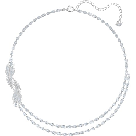 Swarovski Nice Necklace, White, Rhodium Plated 5493404