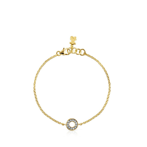 Tous Nocturne mini-disc Bracelet in Gold Vermeil with Diamonds 918441620