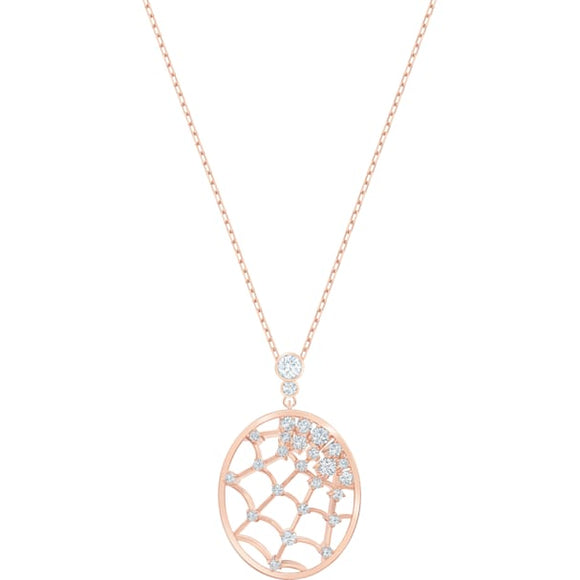 Swarovski Precisely Pendant, White, Rose-gold Tone Plated 5488405