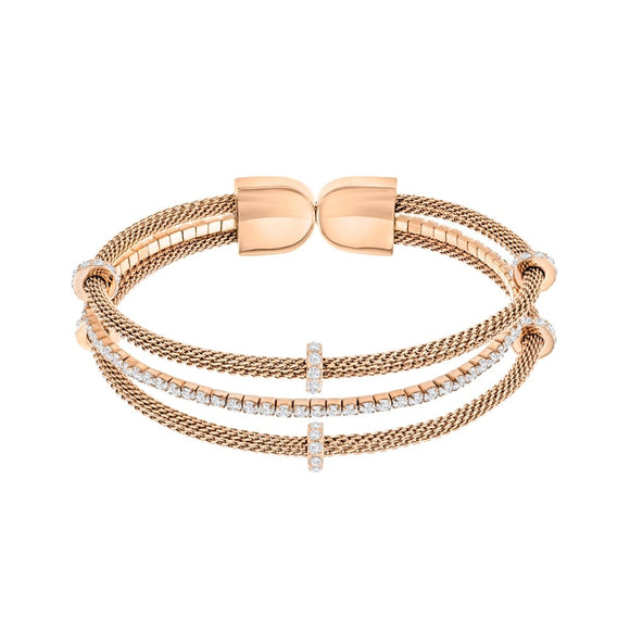 Swarovski Rosegold Gate Bangle 5252864