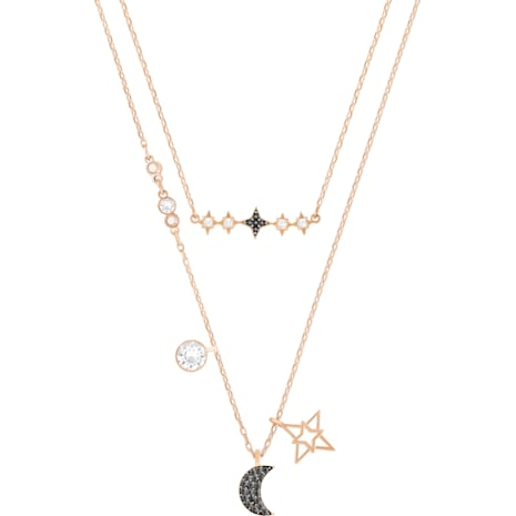 Swarovski Symbolic Moon Necklace Set, Multi-colored, Mixed Plating 5273290