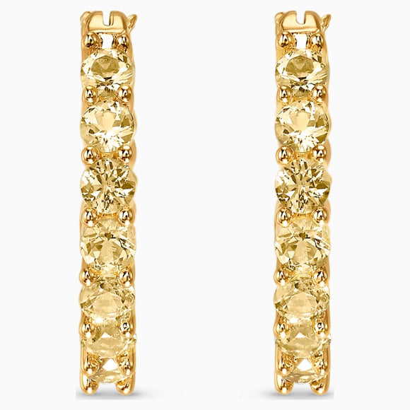 Swarovski Vittore Hoop Pierced Earrings, Gold tone, Gold-tone plated 5522880
