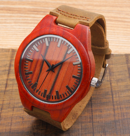 Red Wooden Watch - Millennial Style Group