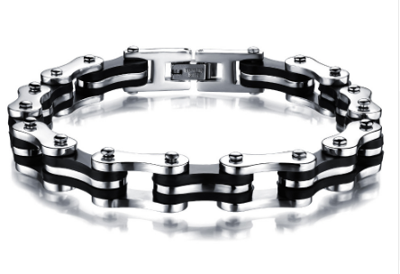 Stainless Steel Motorcycle Chain Bracelet - Millennial Style Group