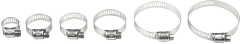 Helix Racing STAINLESS STEEL WORM DRIVE HOSE CLAMP 58MM - 83MM, 10 PK | 111-6244