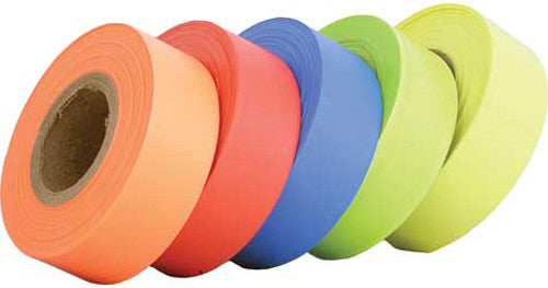 "Helix Racing FLAGGING TAPE FLUORESCENT YELLOW, 1 3/16"" WIDE X 4.5 MIL THICK X 150 FT. 