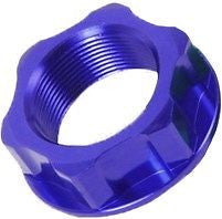 ZETA - ZE58-2152 Blue Anodized Aluminum Steering Stem Nut M24x30x12mm 1.00 Pitch