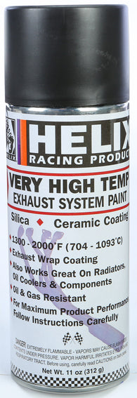 Helix Racing HIGH TEMP EXHAUST SYSTEM PAINT, BLACK | 165-1020
