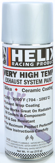Helix Racing HIGH TEMP EXHAUST SYSTEM PAINT, FLAT ALUMINUM 11oz | 165-1170