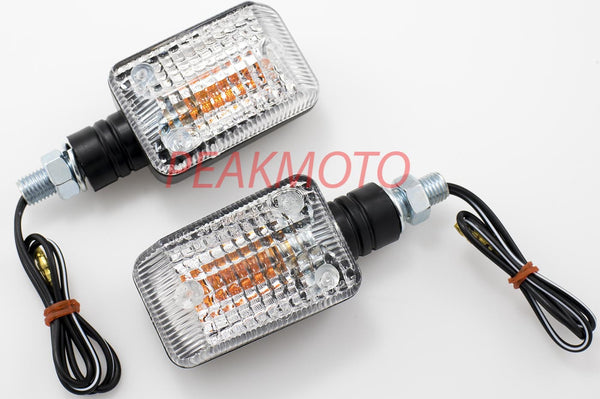 K&S UNIVERSAL DOT MINI STALK TURN SIGNAL BLACK BODY - CLEAR LENS HALOGEN | 25-7500C