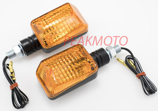 K&S UNIVERSAL DOT MINI STALK TURN SIGNAL BLACK BODY - AMBER LENS HALOGEN | 25-7500