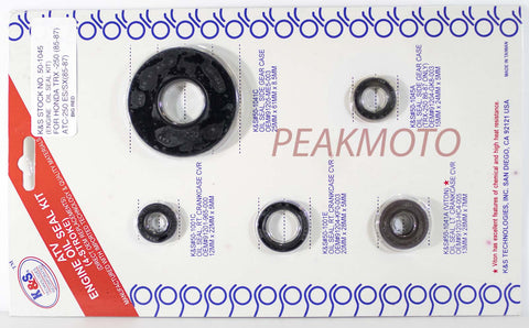 K&S ATV Complete Engine Oil Seal Kit  TRX/ATC-250  | 50-1045