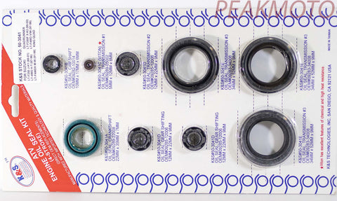 K&S ATV Complete Engine Oil Seal Kit  LT-F250/LT-F4  | 50-3041