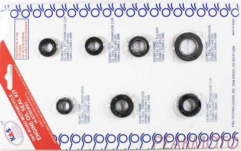 K&S Off-Road Complete  Engine Oil Seal Kit  XR-185/200/ TLR200  | 51-1044