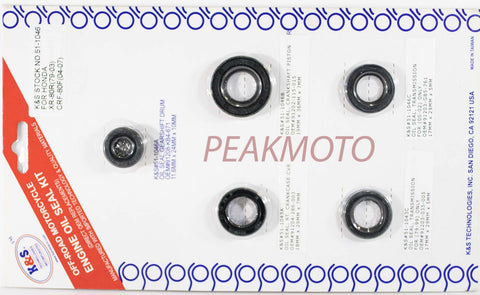 K&S Off-Road Complete  Engine Oil Seal Kit  XR-80R/CRF-80  | 51-1046