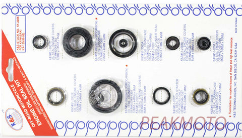 K&S Off-Road Complete  Engine Oil Seal Kit  KX-125 (88-93)  | 51-2005