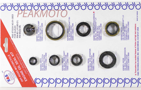K&S Off-Road Complete  Engine Oil Seal Kit  RM80/85  | 51-3003