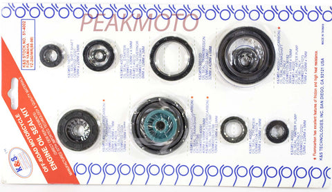 K&S Off-Road Complete  Engine Oil Seal Kit  YZ-250/WR  | 51-4002
