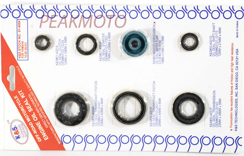 K&S Off-Road Complete  Engine Oil Seal Kit  YZ-80 (93-01)  | 51-4004