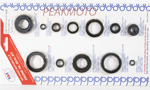 K&S Off-Road Complete  Engine Oil Seal Kit  YZ-125 (98-04)  | 51-4006