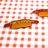 Too Long Footlong Enamel Pin