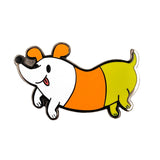 Candy Corn Dog Enamel Pin