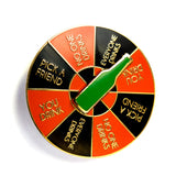 Drinking Game Spinner Pin (Multiple Color Options)