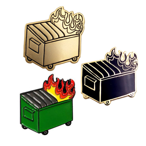 Dumpster Fire Soft Enamel Pin