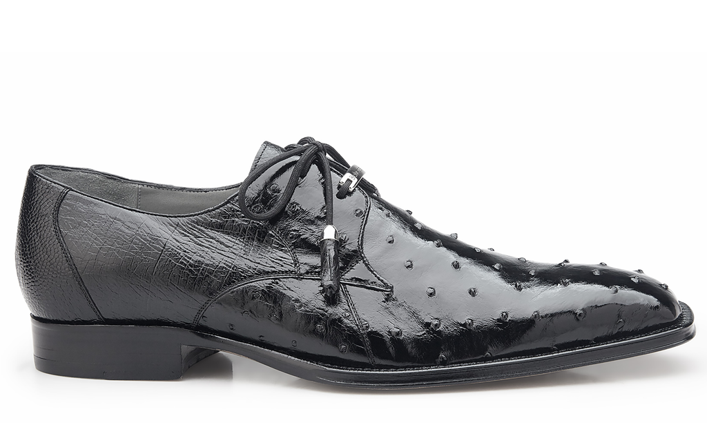 Isola black Belvedere Ostrich Shoes