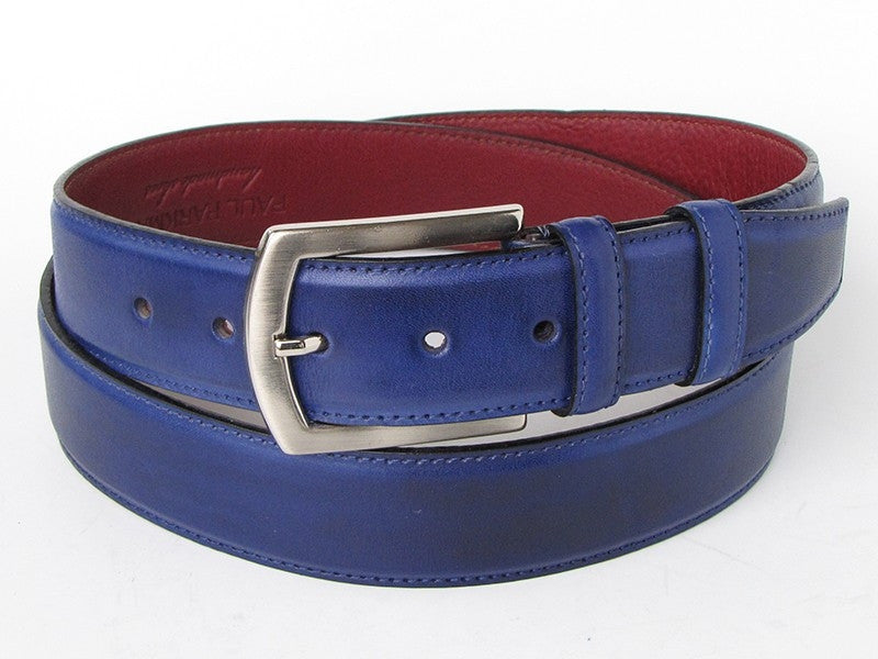 Cobalt Blue Paul Parkman Leather Belt