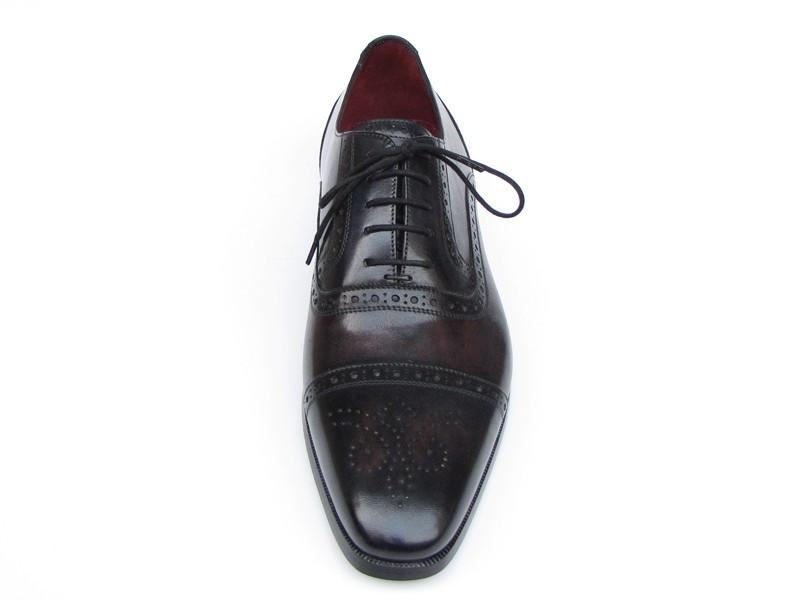 Captoe Paul Parkman Oxfords Bronze & Black Shoes
