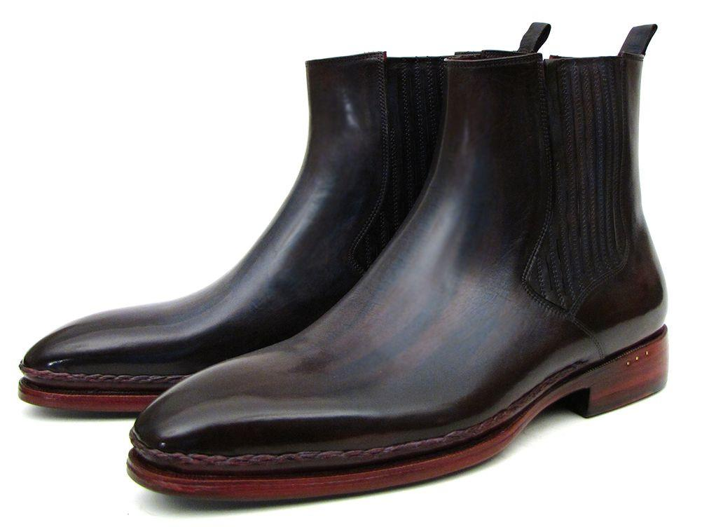 Chelsea Paul Parkman Boots Navy & Bordeaux