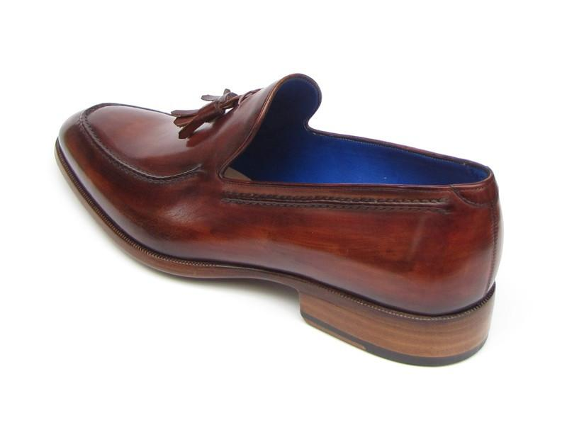 Men's Tassel Loafer Brown Leather Upper and Leather Sole Paul Parkman