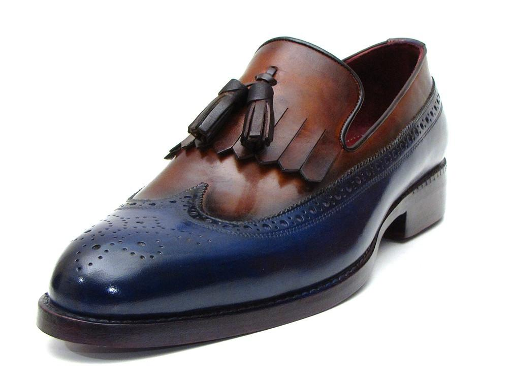 Kiltie Tassel Paul Parkman Loafer Navy & Tobacco