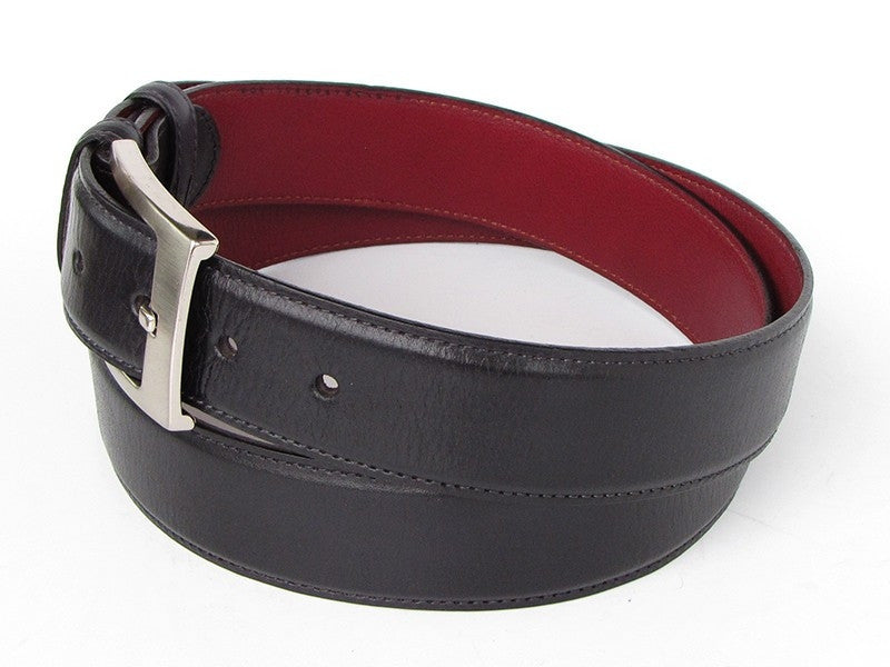 Black Paul Parkman Leather Belt