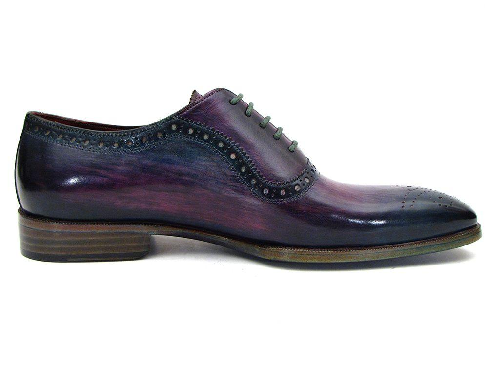 Purple & Navy Medallion Toe Paul Parkman Oxfords