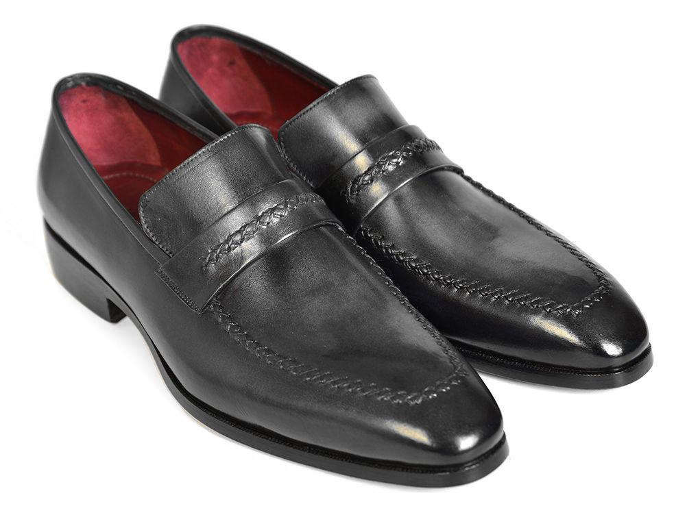 Gray & Black Men's Paul Parkman Loafers For Men