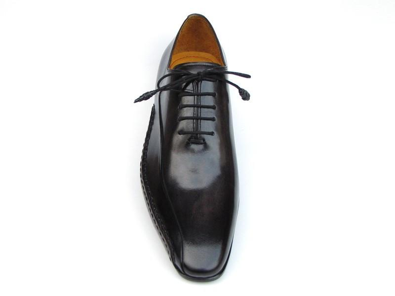 Black Leather Paul Parkman Oxfords - Side Handsewn Leather Upper and Leather Sole