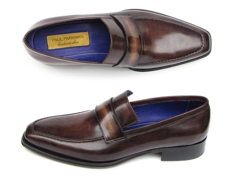 Paul Parkman Men's Loafer Bronze Hand Painted Shoes