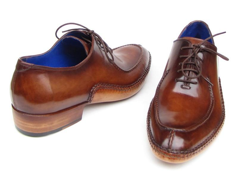 Side Handsewn Split-toe Brown Paul Parkman Oxfords