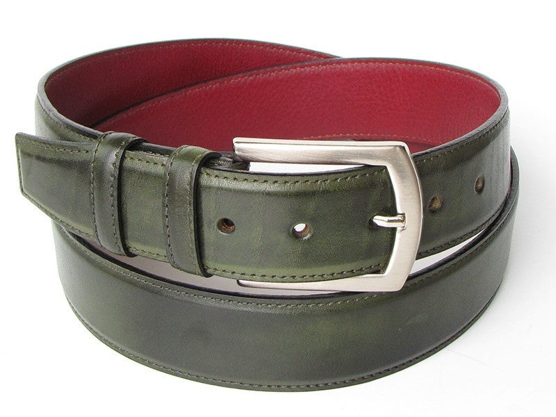 Dark Green Paul Parkman Leather Belt