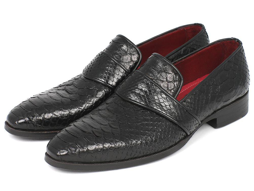 Men's Genuine Paul Parkman Python Loafers Black