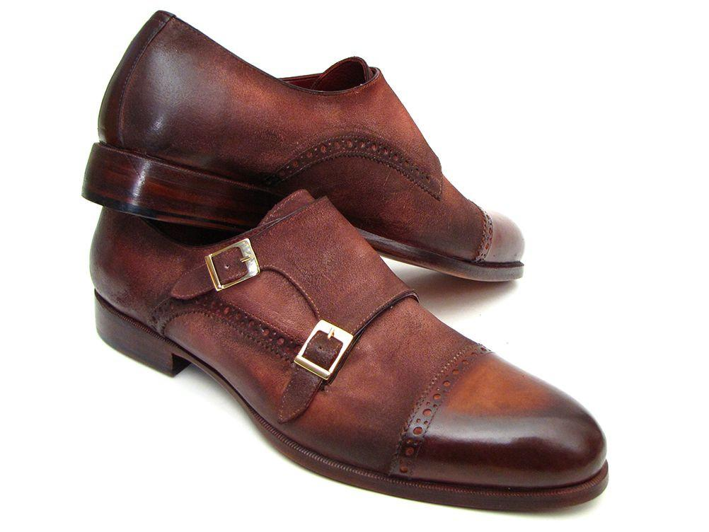 Captoe Paul Parkman Double Monkstrap Antique Brown Suede