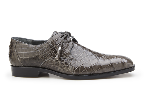 Lago Gray Alligator Belvedere Shoes