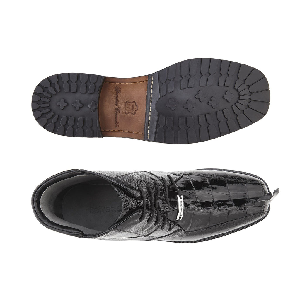 Barone Black Hornback and Ostrich BELVEDERE SHOES