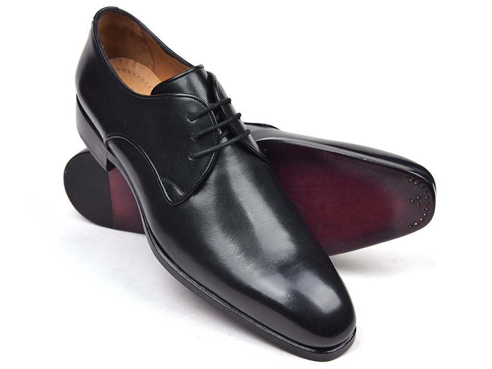Men's Black Leather Paul Parkman Derby Shoes