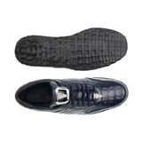 Astor Navy Crocodile Belvedere Sneakers Shoes
